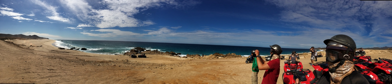 Panoramic photo of the beach while on an ATV tour